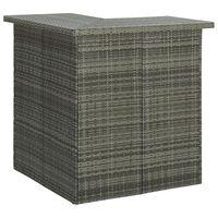 vidaXL Kutni barski stol sivi 100 x 50 x 105 cm od poliratana