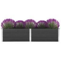 vidaXL Vrtna posuda za sadnju 250 x 50 x 54 cm WPC siva
