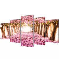 Zidne Slike na Platnu s Printom Trešnjinog Cvijeta 200 x 100 cm
