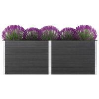vidaXL Vrtna posuda za sadnju 250 x 100 x 91 cm WPC siva