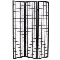 vidaXL Sklopiva sobna pregrada s 3 panela u japanskom stilu 120x170 cm crna