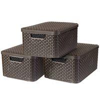 Curver kutije za pohranu Style s poklopcem 3 kom vel. M smeđe 240655