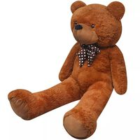 vidaXL Mekani plišani medvjedić smeđi 170 cm