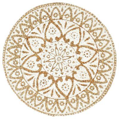 vidaXL Podmetači 6 kom bijeli 38 cm okrugli od jute