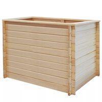 vidaXL Garden Raised Bed 100x100x80 cm Pinewood 19 mm
