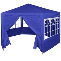 vidaXL Šesterokutni  Šator sa 6 panela Plavi 2 x 2 m