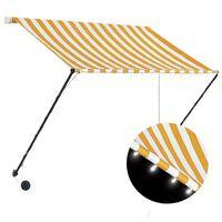 vidaXL Tenda na uvlačenje s LED svjetlima 200 x 150 cm žuto-bijela