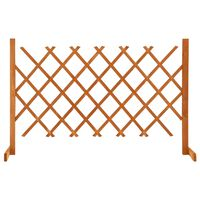 vidaXL Vrtna rešetkasta ograda narančasta 120 x 90 cm masivna jelovina
