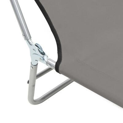 vidaXL Sklopive ležaljke 2 kom čelik i tkanina sive