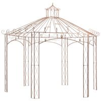 vidaXL Vrtni paviljon antikni smeđi 4 m željezni
