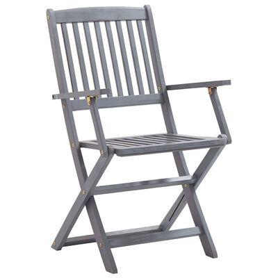 vidaXL Sklopive vrtne stolice 4 kom od masivnog bagremovog drva