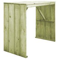 vidaXL Barski stol od impregnirane borovine 130 x 60 x 110 cm