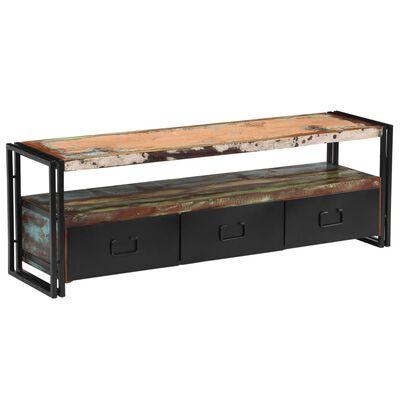 vidaXL Komoda za TV od masivnog obnovljenog drva 120 x 30 x 40 cm