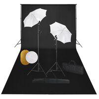 vidaXL Fotografska oprema: svjetla, kišobrani, pozadina i reflektori