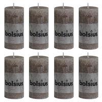 Bolsius rustične debele svijeće 8 kom 100 x 50 mm smeđe-sive