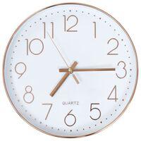 vidaXL Zidni sat 30 cm ružičasto zlatni
