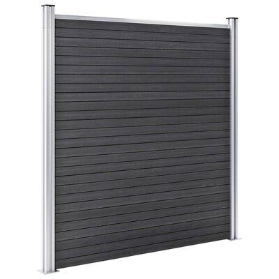 vidaXL Vrtna ograda od WPC-a 872 x 186 cm siva