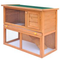 vidaXL Vanjski kavez kućica za male životinje i kućne ljubimce 1 drvena vrata