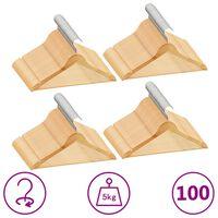 vidaXL 100-dijelni set vješalica za odjeću protuklizni od tvrdog drva