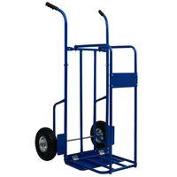 vidaXL Kolica za drva za ogrjev čelična 63x70,5x119,5 cm 120 kg plava