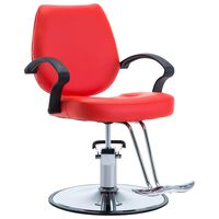 vidaXL Brijačka stolica od umjetne kože crvena