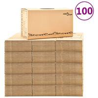vidaXL Kutije za selidbu kartonske XXL 100 kom 60 x 33 x 34 cm
