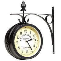 vidaXL Zidni sat s dva lica 20 cm