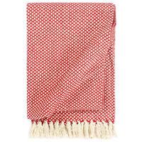 vidaXL Pamučni pokrivač 220 x 250 cm crveni