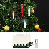 vidaXL Božićne bežične LED svijeće s daljinskim upravljačem 20 kom RGB