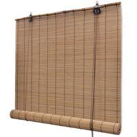 Rolo zavjesa od bambusa smeđa boja 100 x 160 cm