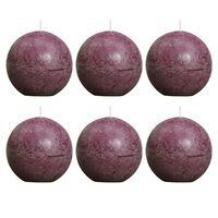 Bolsius Rustikalne kuglaste svijeće 80 mm ljubičaste 6 kom