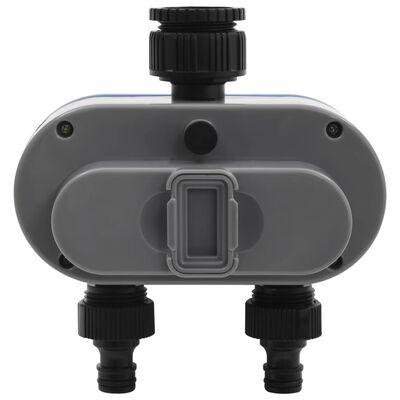 vidaXL Automatski digitalni tajmer za vodu s dvostrukim ispustom