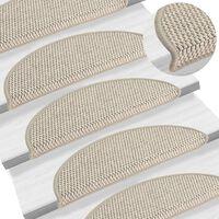 vidaXL Samoljepljivi otirači za stepenice 15 kom 56x20 cm smeđe-sivi