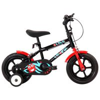 vidaXL Dječji bicikl 12 inča crno-crveni