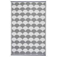 Esschert Design vanjski tepih 180 x 121 cm sivo-bijeli OC24