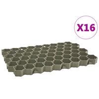 vidaXL Rešetke za travu 16 kom zelene 60 x 40 x 3 cm plastične