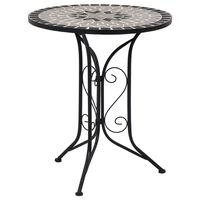 vidaXL Bistro stolić s mozaikom sivi 61 cm keramički