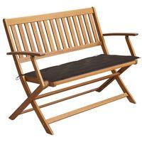 vidaXL Garden Bench with Cushion 120 cm Solid Acacia Wood (44132+314952)