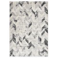 vidaXL Tepih sivo-bijeli 80 x 150 cm PP