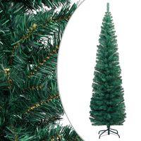 vidaXL Usko umjetno božićno drvce sa stalkom zeleno 240 cm PVC