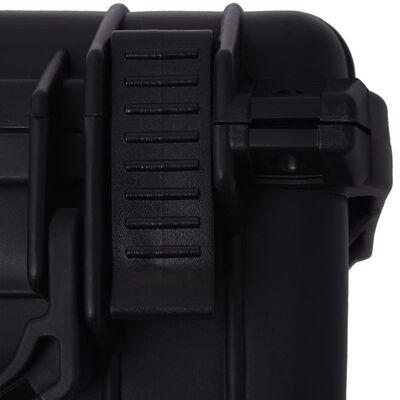 vidaXL Zaštitni Kovčeg za Opremu 27x24,6x12,4 cm Crni