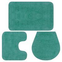 vidaXL 3-dijelni set kupaonskih otirača od tkanine tirkizni