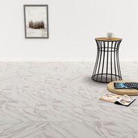 vidaXL Samoljepljive podne obloge PVC 5,11 m² bijele mramorne