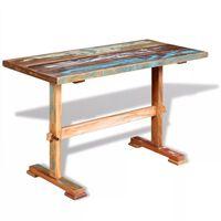vidaXL Blagovaonski stol s postoljem od obnovljenog drva 120x58x78 cm