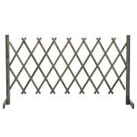 vidaXL Vrtna rešetkasta ograda siva 150 x 80 cm od masivne jelovine