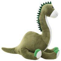 vidaXL Mekani plišani dinosaur brontosaur zeleni