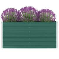 vidaXL Povišena vrtna gredica 160 x 80 x 77 cm pocinčani čelik zelena