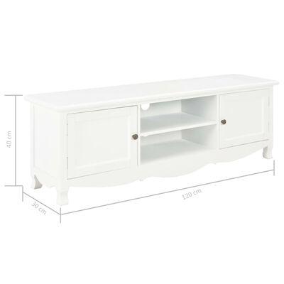 vidaXL TV ormarić bijeli 120 x 30 x 40 cm drveni