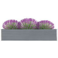 vidaXL Vrtna sadilica od pocinčanog čelika 320 x 40 x 45 cm siva