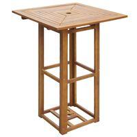 vidaXL Bistro stol 75 x 75 x 110 cm masivno bagremovo drvo